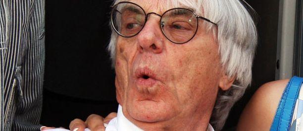 Bernie Ecclestone, 79, on Formula One Management -yhtiön toimitusjohtaja.