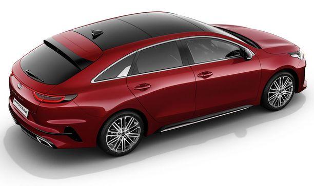 Ylhäältä katsottuna coupen muoto pääsee parhaiten esiin.
