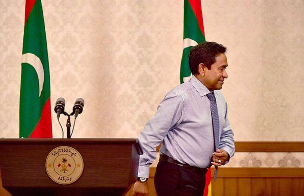 Abdulla Yameen Abdul Gayoom piti maanantaina televisiopuheen, jossa hän myönsi vaalitappionsa.