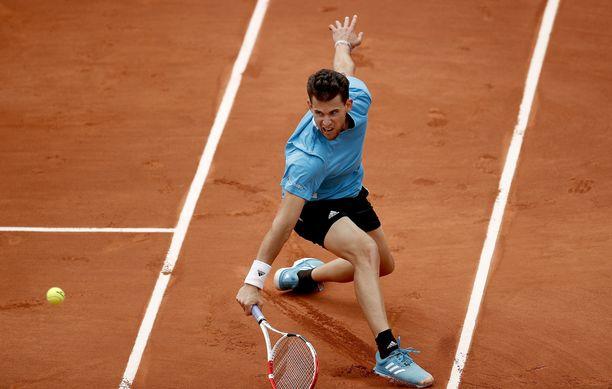 Dominic Thiem nähdään jälleen Ranskan avointen loppuottelussa.