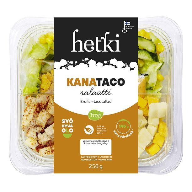 Hetki Kana-taco-salaatti on Laakkosen perheelle ennestään tuttu valinta. Aikuisten lisäksi myös lapset pitävät tästä salaatista kovasti.