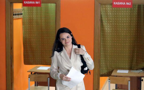 Svetlana Tsihanouskaja on nyt Liettuassa.