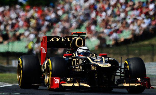 Kimi Räikkösen Lotus on ollut nopea kisa-auto.