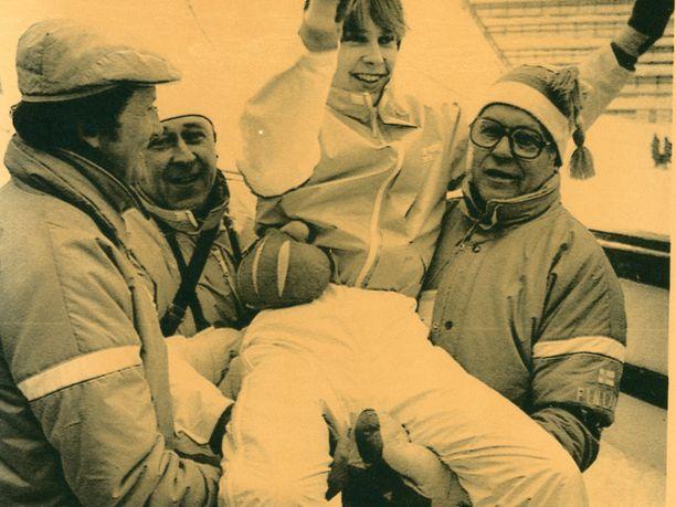 Matti Nykänen voitti vuonna 1984 Sarajevon talviolympialaisissa kultaa ja hopeaa.
