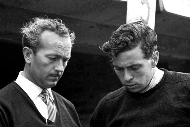 Lotuksen perustaja Colin Chapman ja Jim Clark olivat paitsi työtoverit myös läheiset ystävät.