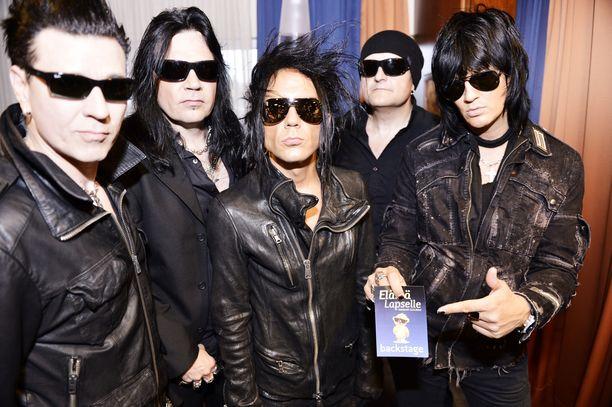 Kuvassa 69Eyes-yhtye vuonna 2012.