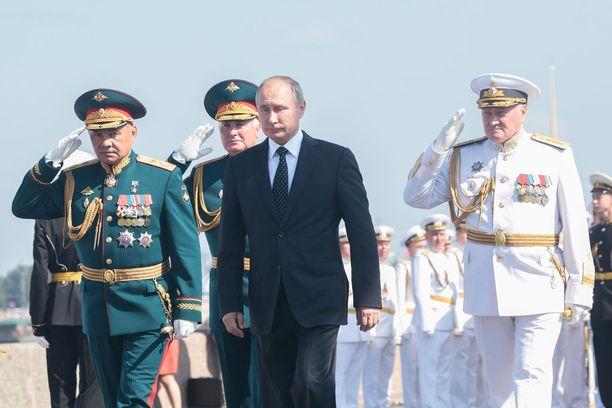 Presidentti Vladimir Putin osallistui laivaston paraatiin Pietarissa 29. heinäkuuta 2018.