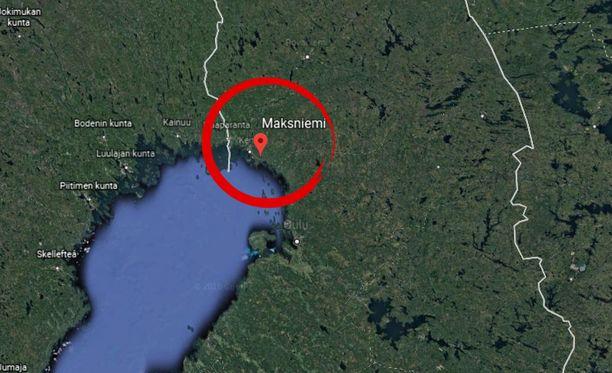 Kuljettaja otettiin kiinni Simoon kuuluvassa Maksniemessä.