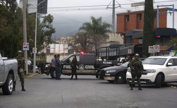 Ammuskelu tapahtui Monterreyssa, Pohjois-Meksikossa.