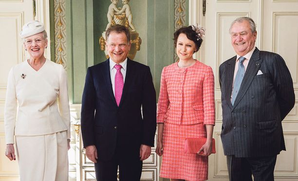 Presidenttipari vieraili Tanskassa.