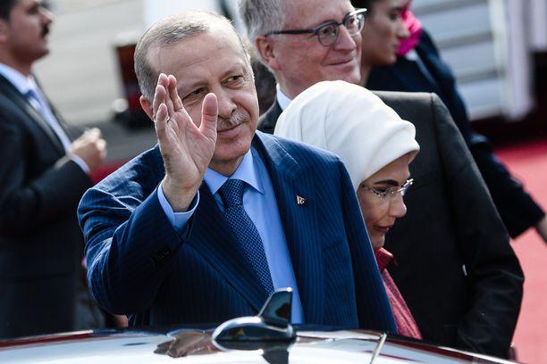 Turkin presidentti Erdogan saapui torstai-iltana Berliiniin.