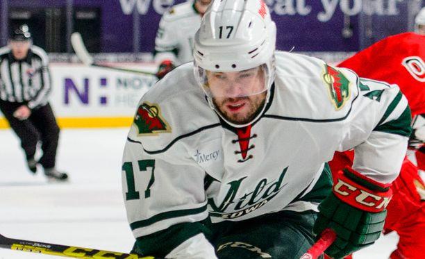 Brett Bulmer kiekkoili viime kaudella Minnesota Wildin riveissä kolmen ottelun verran.