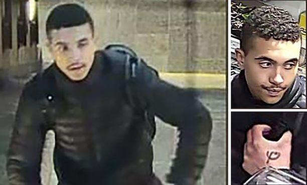 Henkirikoksesta epäilty ruotsalaismies tallentui valvontakamerakuviin maanantaina oslolaisella metroasemalla.