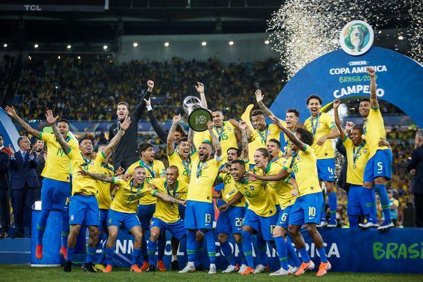 Brasilia voitti edellisen Copa Américan vuonna 2019, tuolloinkin Brasilian maaperällä.