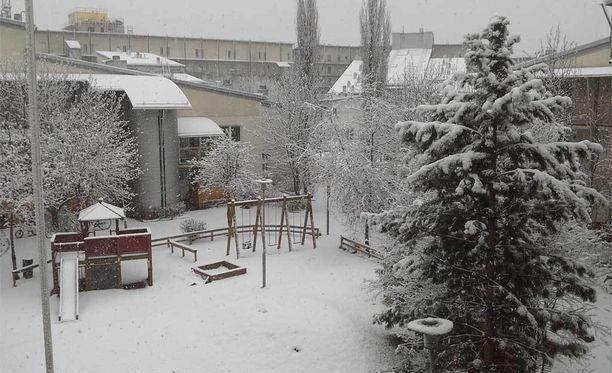 Vaasassa herättiin valkeaan aamuun.