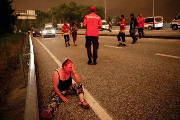 Metsäpalossa loukkaantunut nainen sai ensiapua lauantai-iltana.