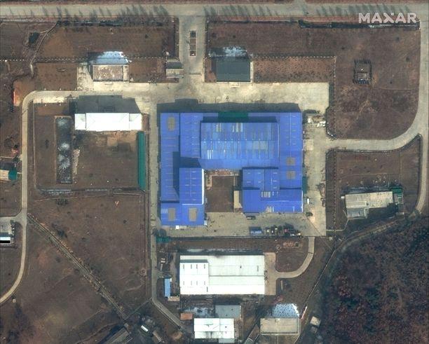 10 maaliskuuta julkaistu satelliittikuva Pohjois-Korean ohjusten testipaikasta, jossa on viime aikoina havaittu vilkasta toimintaa.