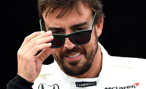 Fernando Alonso oli huumorituulella Australiassa.