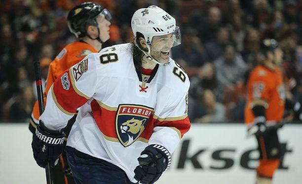 Jaromir Jagr on iskenyt NHL-urallaan käsittämättömät tehopisteet 765+1149=1914.