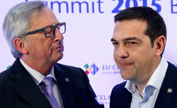 Jean-Claude Junckerin ja Alexis Tsiprasin välit ovat kiristyneet.