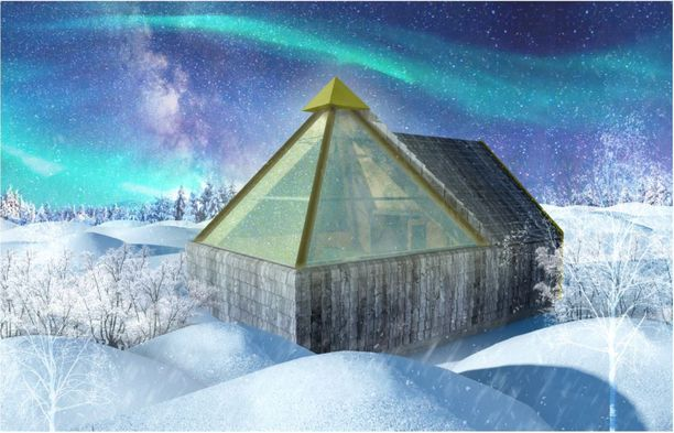 Havainnekuva Levin Aurora Pyramideista.