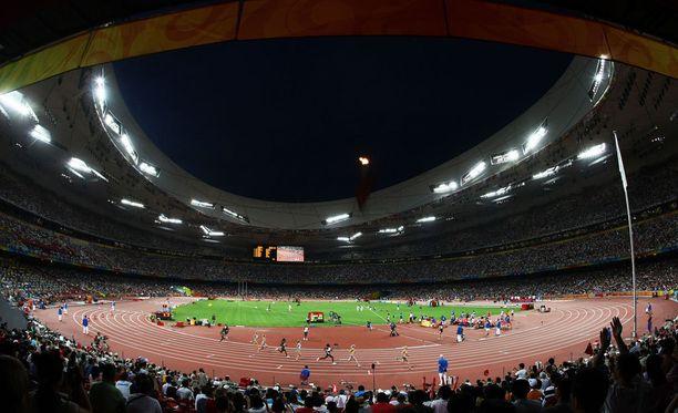 Pekingin olympiastadion on melko tuuleton heittopaikka. Elokuussa Kiinassa jaetaan MM-mitaleja.