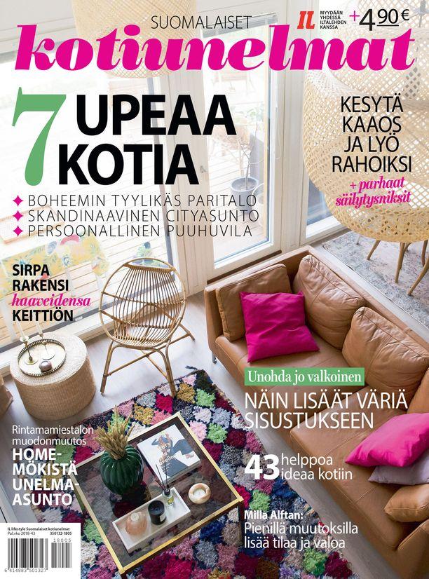 Suomalaiset kotiunelmat -erikoislehti on täynnä persoonallisia kotiesittelyjä ja uusia ideoita kodin ilmeen muuttamiseen.