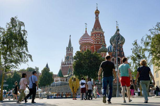 Delta-variantti leviää vauhdilla Venäjällä. Kuva Moskovasta.