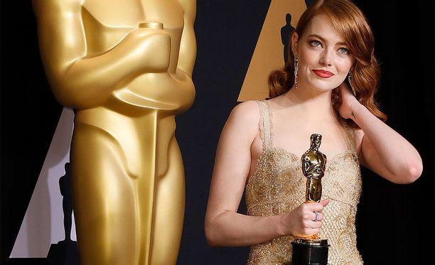 Emma Stone voitti Oscarin parhaasta naispääosasta viimeisimmässä Oscar-gaalassa.