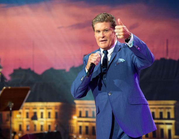 David Hasselhoff on nähty Suomen televiossa aiemmin David Hasselhoff Show:ssa.