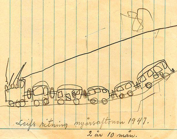 Kaksivuotiaan Leifin juna.