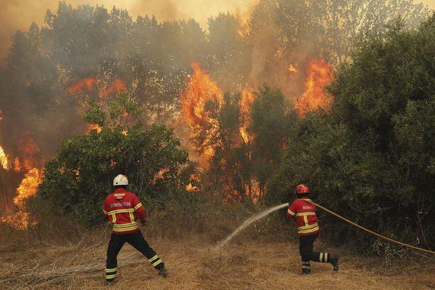1320 palomiestä taistelee liekkejä vastaa Algarvessa.
