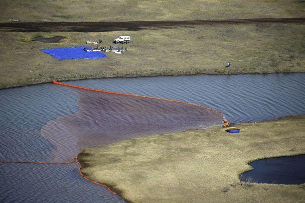 Norilsk Nikel -yhtiön säiliöstä valui peräti 21 000 tonnia dieselöljyä luontoon.