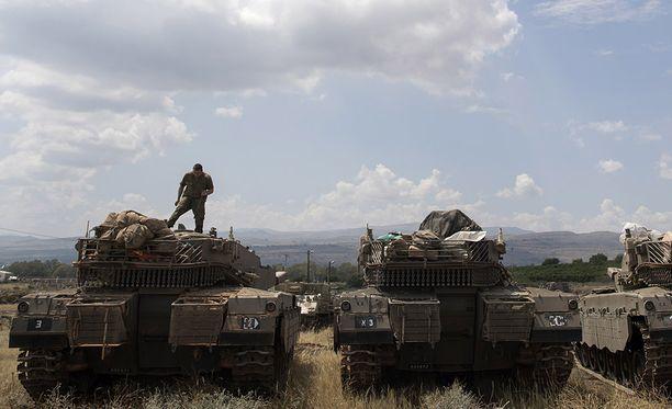 Israelin joukot miehittävät osaa Syyrian ja Israelin rajan lähellä olevasta Golanin kukkulasta.