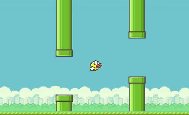 Flappy Bird perustuu yksinkertaisin näpäytyksin tehtäviin ohjausliikkeisiin.