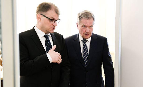 Juha Sipilä ja Sauli Niinistö tapaavat tänään kello 15.