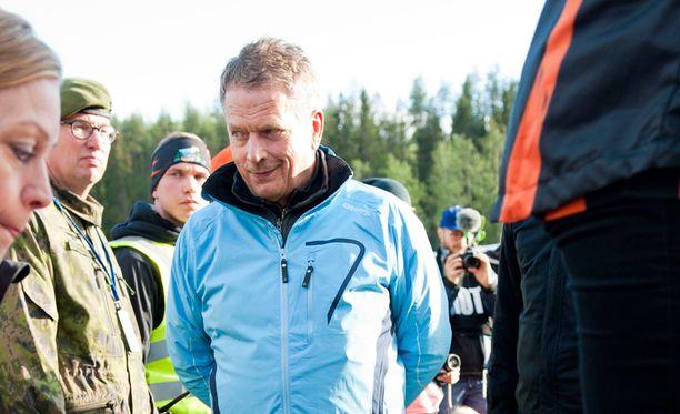 Sauli Niinistö toimi Jukolan viestin suojelijana.