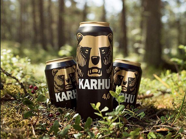 Karhun olut löytyy jatkossa kierrätysmateriaalista valmistetusta monipakkauksesta.