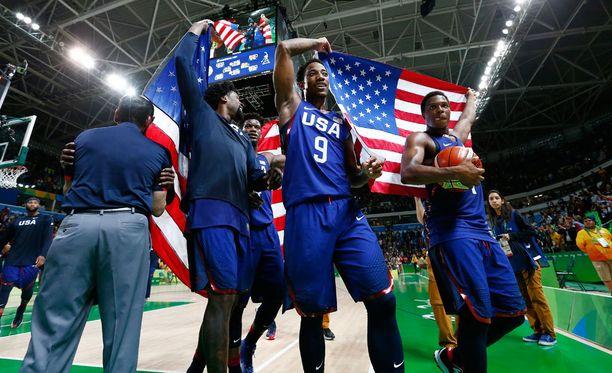 Yhdysvallat otti odotetun voiton Rion koripalloturnauksessa.