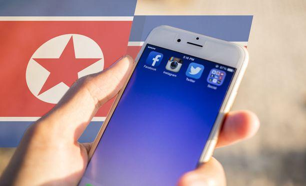 Pohjois-Korean uskotaan kehittelevän Iphonelle suunnattua vakoiluohjelmaa. Kuvituskuva.