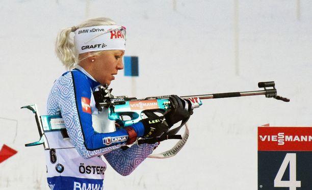 Kaisa Mäkäräisen sihti on ollut kunnossa vuoden 2018 aikana maailmancupissa.