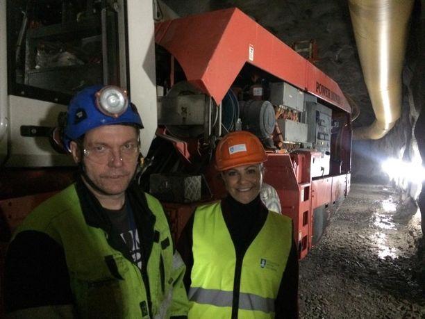 Jumbo-operaattori Jorma Pynnönen Power Mining ja Victoria.