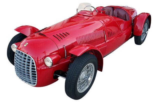 Ferrari 166 Spider Corsa kilpa-auto (8 kpl) osallistui mm. Mille Miglia -kisoihin sekä Pariisin 12 tunnin ajoon.