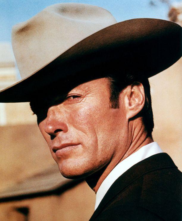 Clint Eastwood kuvattuna 1968. Tuolloin hän teki paljon lännenleffoja.
