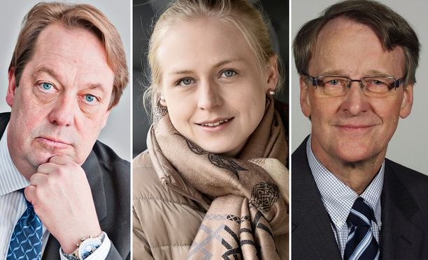 Esimerkiksi Mika Raatikaisella (vas.), Elina Lepomäellä ja Erkki Havansilla on mahdollisuus nousta eduskuntaan eurovaalien myötä.