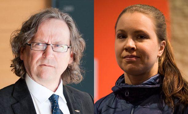 Pekka Vähäsöyrinki koutsaa Kerttu Niskasta.