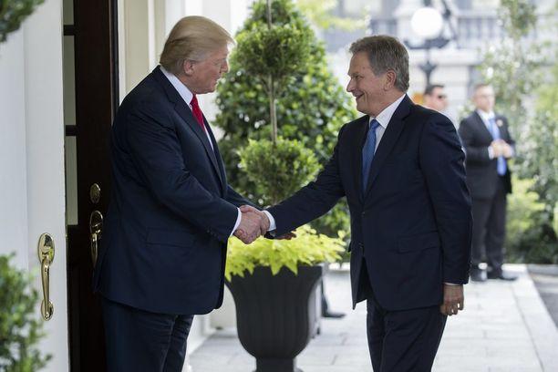 Trump ja Niinistö tapasivat maanantaina Valkoisessa talossa.
