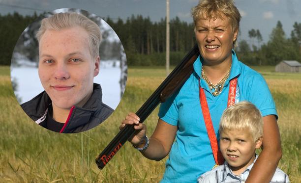 Patrik on seurannut äitinsä jalanjälkiä ampumaurheilussa.