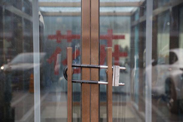 Suurin osa liikkeistä oli Pekingin keskustassa oli ystävänpäivänä suljettuina.