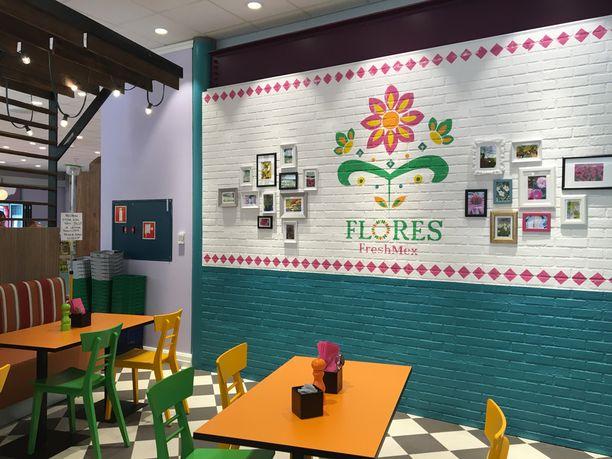 Pääportin tuntumasta löytyy myös uusi meksikolainen ravintola Flores FreshMex.